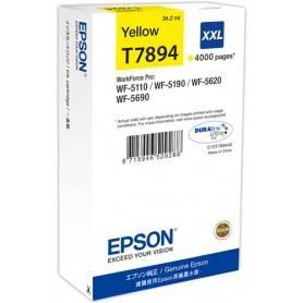 ORIGINAL Epson Cartuccia d'inchiostro giallo C13T789440 T7894 ~4000 Seiten 34.2ml XXL