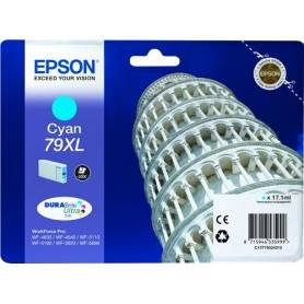 Cartuccia  Epson T7902 / C13T79024010 Ciano 2000 Pagine 17.1ml 79XL Originale